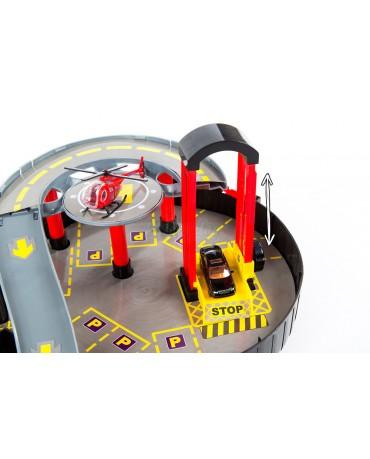 Parkgarage Parkhaus KP2819 Autogarage Autos Spielzeug Tankstelle NEU Helikopter
