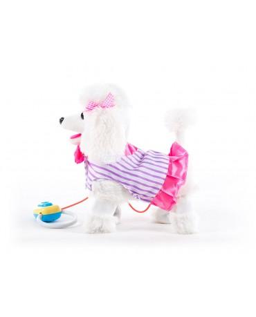 Interaktive KP3806 Weiss Spielzeug Hund mit Fernbedienung belt und läuft Neu