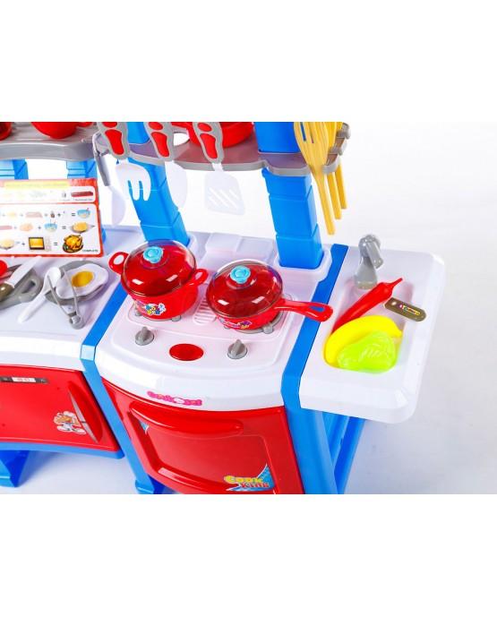 Spielküche KP3470BLU Spielzeug Kinder Küche mit Zubehör Rosa Kinderküche NEU