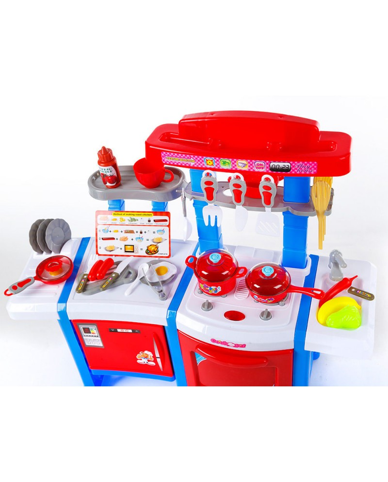 Spielküche KP3470BLU Spielzeug Kinder Küche mit Zubehör Rosa ...