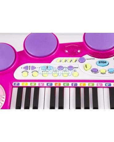 Kinderplay KP5728PIN Klavier Musikinstrument Kinderpiano  Piano Keyboard PINK