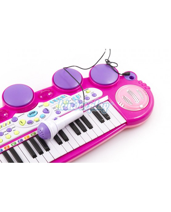 Kinderplay KP5728PIN Klavier Musikinstrument Kinderpiano  Piano Keyboard PINK