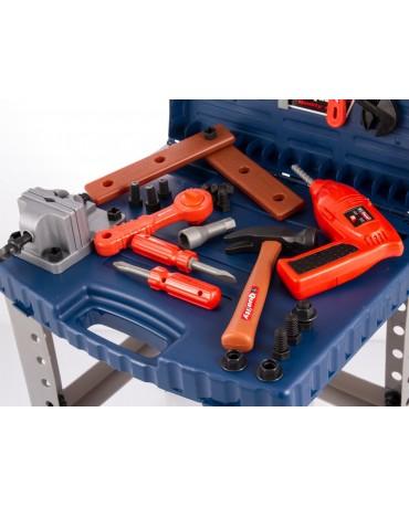 Kinderwerkbank Werkzeugbank Holzspielzeug mit Zubehör KP3887 Werkbank Spielzeug