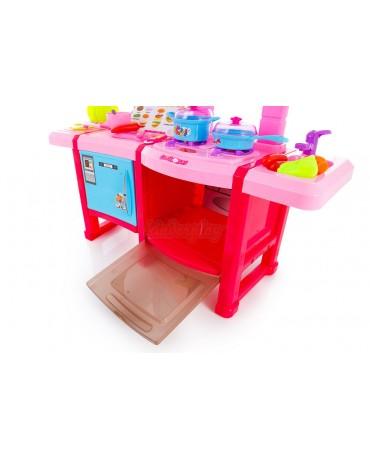 Spielküche KP8516 Spielzeug Kinder Küche mit Zubehör Rosa Kinderküche NEU