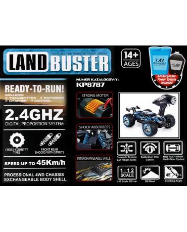 FERNGESTEUERTES Elektro Auto Land Buster KP8787 Akku und Batterie  Wasserdicht