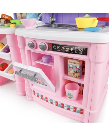 Kinderküche Spielküche Kinderspielküche Spielzeugküche KP0070P 66 Zubehörteile