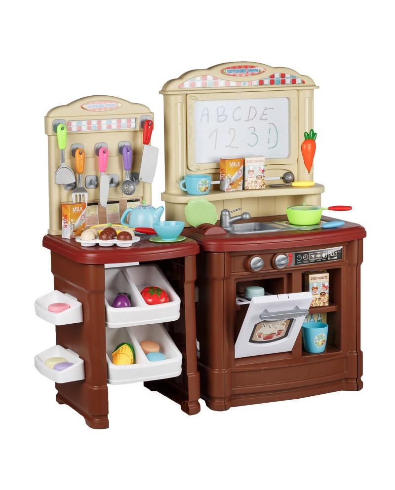 Kinderküche Spielküche Kinderspielküche Spielzeugküche KP0070BROWN ...