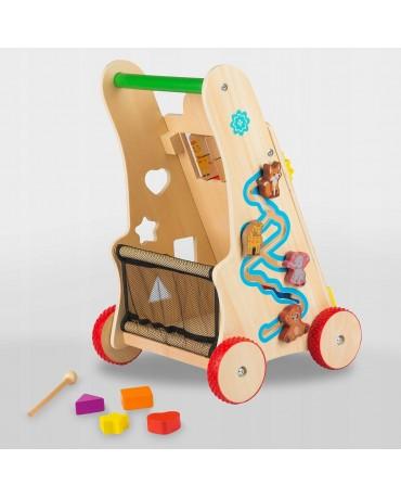 Lauflernwagen Lauflernhilfe Laufwagen Gehfrei Holz GS0030 Baby Walker aus Holz