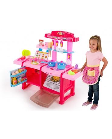Kinderküche Spielküche Spielzeug Kinder Küche mit Zubehör Rosa  NEU KP8516