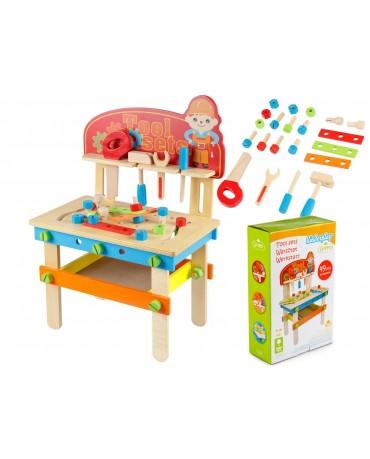 Kinderwerkbank & Zubehör HolzWerkstatt Kleinkindspielzeug Werkzeug GS0040 Holz