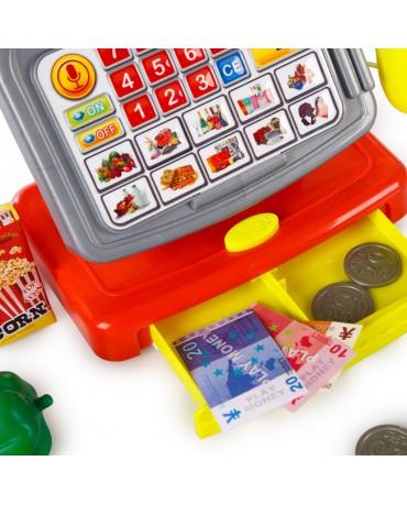 Elektrische Kinder Spiel Kasse KP6190 Spielzeug Kinderkasse Spielgeld Scanner