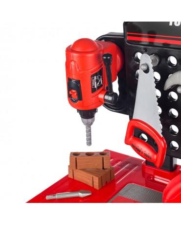 Kinderwerkbank & Zubehör Werkstatt KP3777 Kleinkindspielzeug Kinderbank Werkzeug