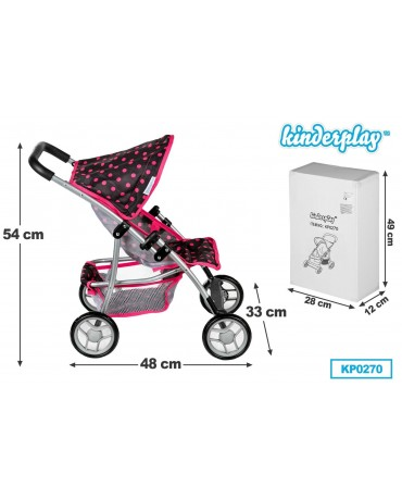 Sportwagen Kinderwagen Puppenwagen Babypuppenwagen KP0270 NEU