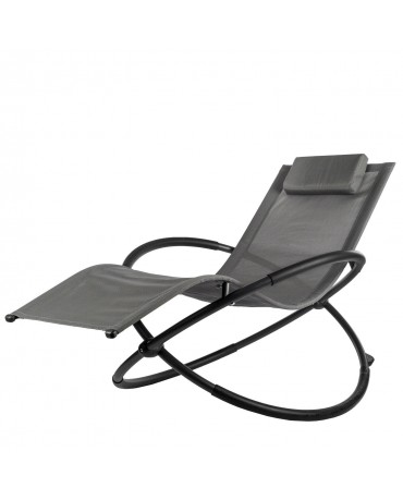 Gartenliege Schaukelliege Sonnenliege CA0052 Campela Grau Liegestuhl Relaxliege