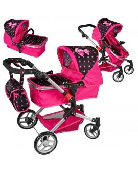 Puppenwagen Puppenwagen Babypuppenwagen KP0250R Kinderwagen Puppe Sportsitz NEU