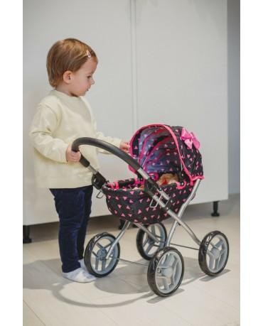 Puppenwagen Puppenkarre Stroller Kinder KP0260R Spielzeug Puppe Puppenzubehör