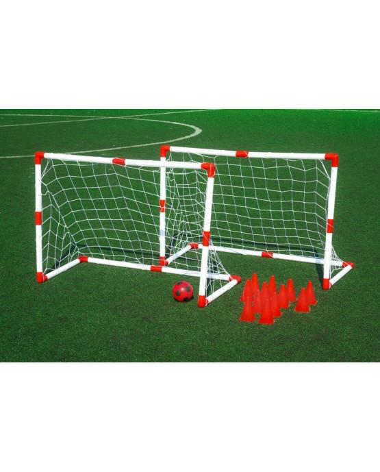 Fussballtor Gartenspielzeug Fußball KP6749  Kinder Spielzeug 2 Minitore NEU
