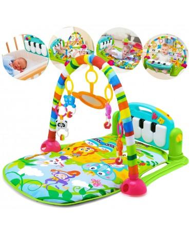 Baby Musikalische Spieldecke 3 in 1 Musik Spielmatte Klavier Spielbogen KP0603GR