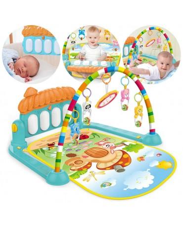 Baby Musikalische Spieldecke 3 in 1 Musik Spielmatte Klavier Spielbogen KP0639