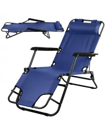 Gartenliege Sonnenliege Strandliege Liegestuhl Campela CA0008NBLU Stuhl klappbar