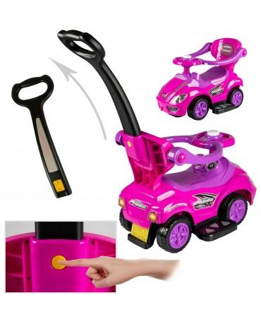 Rutschauto Kinderfahrzeug Lauflernwagen Rutscher HUPE KP3523 Fahrzeug Fushia