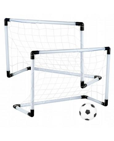 Mini Fußballtor Set 2 Tore Ball Pumpe Tor Fußball KP8547 Gartenspielzeug