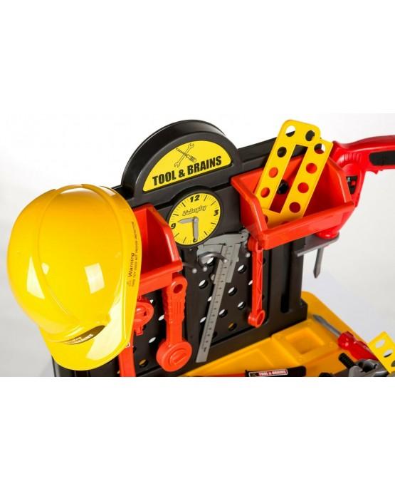 Kinderwerkbank & Zubehör Werkstatt KP2646 Kleinkindspielzeug Kinderbank Werkzeug