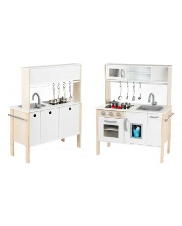 Kinderküche aus Holz Spielzeugküche Holzküche GS0055 Spielküche KinderplayGreen