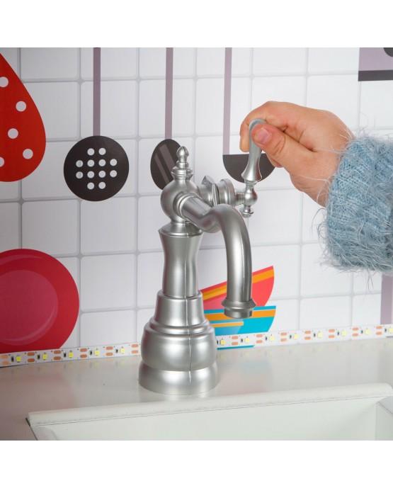 Kinderküche aus Holz Spielzeugküche Holzküche GS0053 Spielküche KinderplayGreen