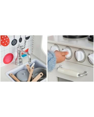 Kinderküche aus Holz Spielzeugküche Holzküche GS0052 Spielküche KinderplayGreen
