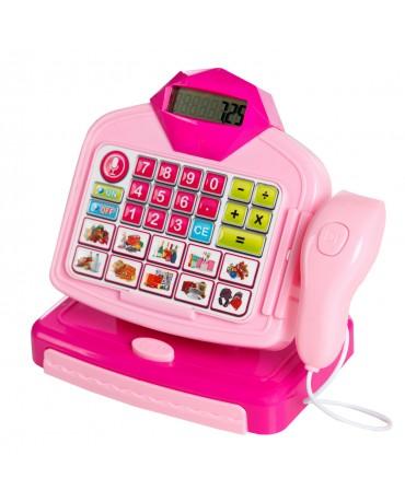 Kinder Spielkasse Kinderkasse Einkaufskorb KP6188 Spielgeld Kasse mit Funktion