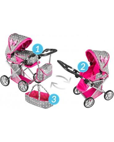 Kinderwagen Puppenwagen Babypuppenwagen Puppenkarre Puppen KP0200S grau
