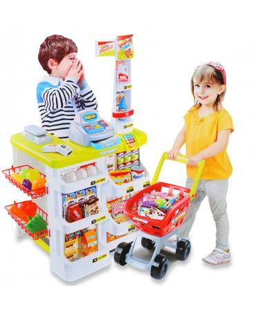 Kaufmannsladen Einkaufswagen Kaufladen Spielzeug Kiosk KP6443 Spielzeug NEU