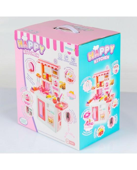 Kinderküche Spielküche Spielzeug Küche KP0075 mit Zubehörteile Rosa  mädchen Neu