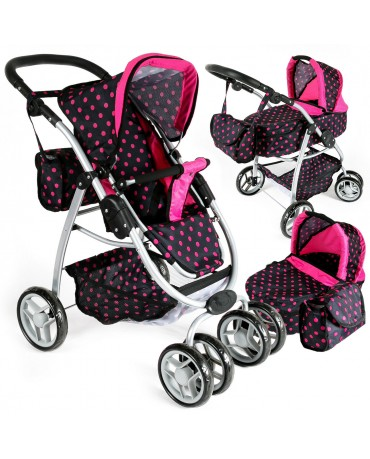 Puppenwagen Kinderwagen Babypuppenwagen 2 in 1 Buggy KP0300GZubehör  NEU