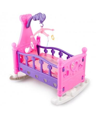 Puppenwiege Puppenmöbel Bettwäsche KP2954 Puppenbett Puppenbett  Spielzeug Rosa