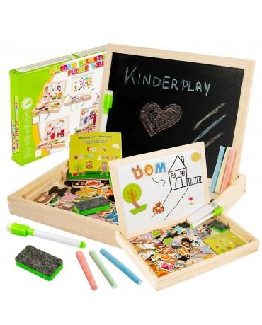Maltafel Puzzle Kindertafel Magnettafel Kreidetafel  KP4333 Schultafel Holz