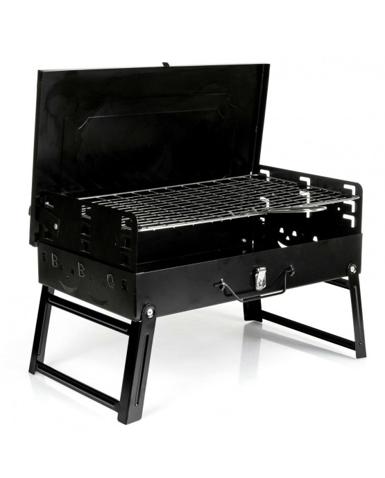 Picknickgrill Kleiner Grill Klappgrill Tragbare BBQ Grill GC0015 Holzkohlegrill